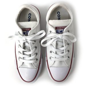 Converse All Star White Low Top Sneakers Sz 5